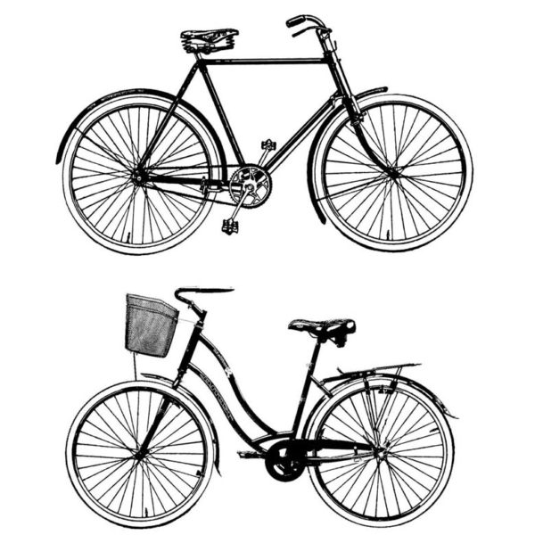 BB502F Bike Duo Rubber Stamps