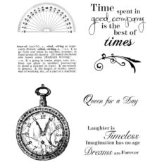 CHC718G Time Spent Cube Rubber Stamps