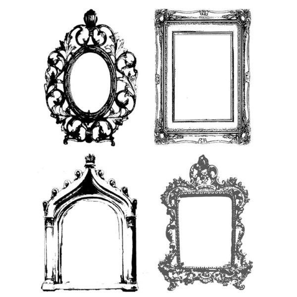 CHF118G Frame Cube Rubber Stamps