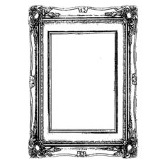 CHF200D FRAME SM Rubber Stamp