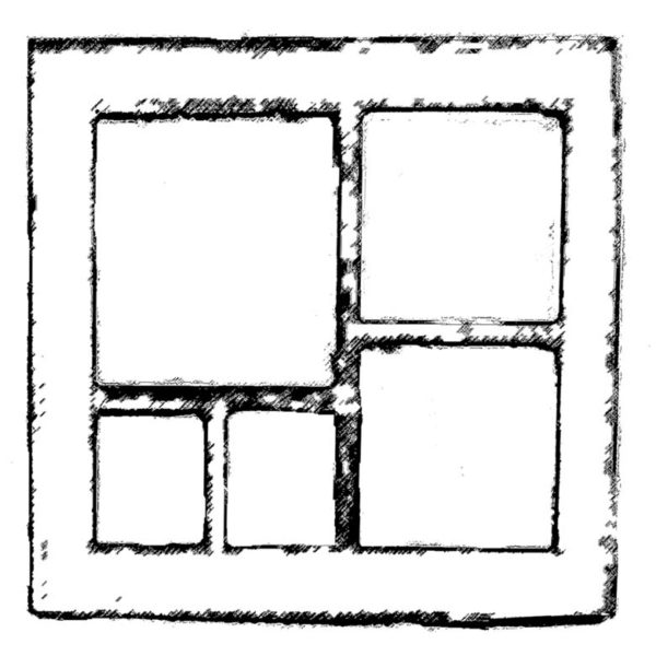 CHF202E Rustic Frame Rubber Stamp