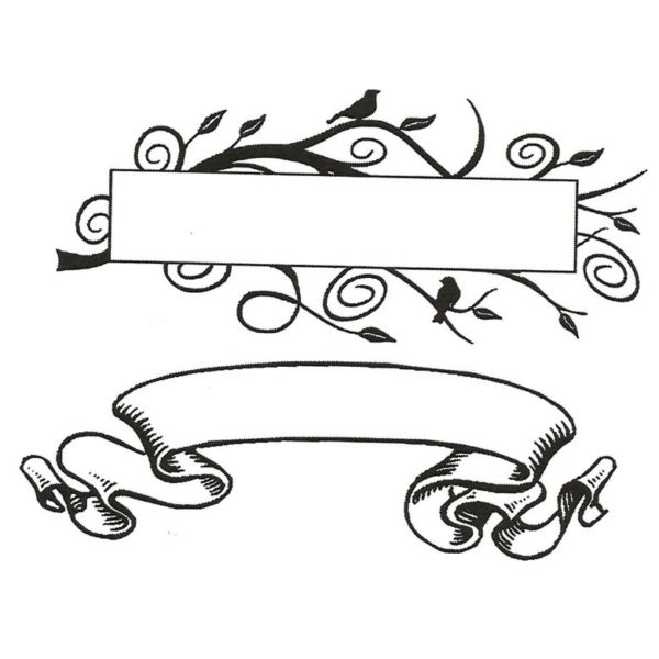 CHF300D Banner Duo Rubber Stamps
