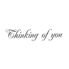 CHF326C Thinking of You sm Rubber Stamp