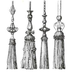 CTM229F Notting Hill Tassels Rubber Stamp