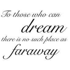 CTP125F Dream Faraway Rubber Stamp