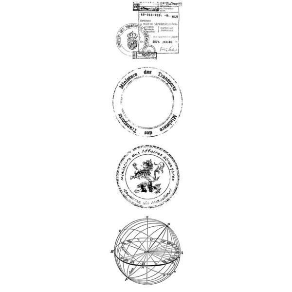 CTP128F Ministries Des Transport Cube Rubber Stamps