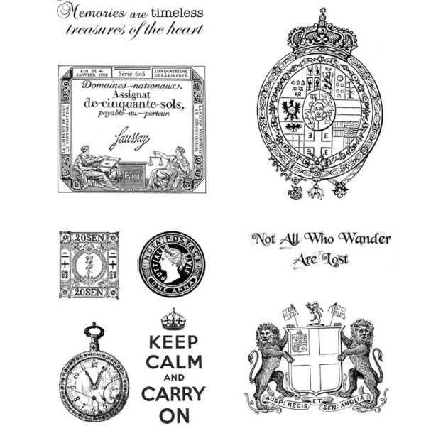 CTP131G Carry On Rubber Stamps