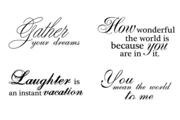 CTP132E Gather Your Dreams Rubber Stamps