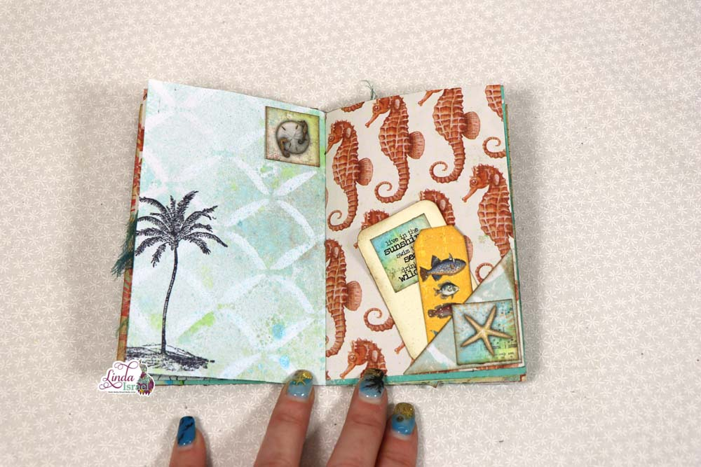 Mini Sea Breeze Junk Journal Tutorial Part 2
