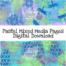 Pastel Mixed Media Pages Digital Download