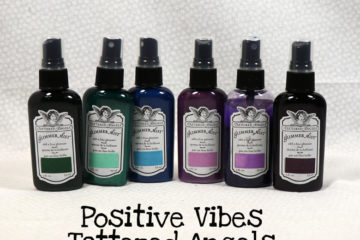 Positive Vibes Tattered Angels Glimmer Mists Kit