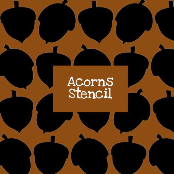 Acorns Stencil