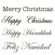 CHO0134D Holiday Greeting Quartet Rubber Stamps