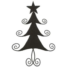 CHO110E Swirl Tree Lg Rubber Stamp