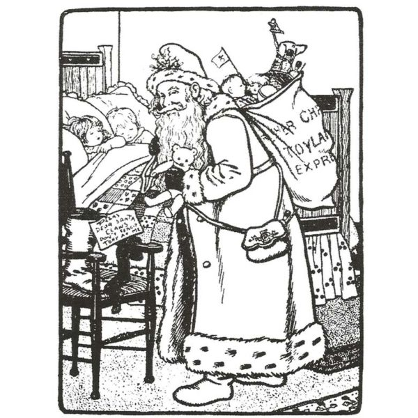 CHO115F Dear Santa Rubber Stamp