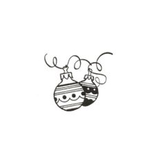 CHO121B Ornaments Rubber Stamp
