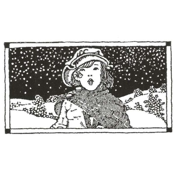 CHO146D Caroler Rubber Stamp
