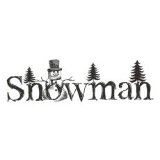 CHO159D Snowman Rubber Stamp