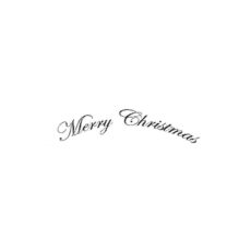 CHO160B Merry Christmas wee Rubber Stamp