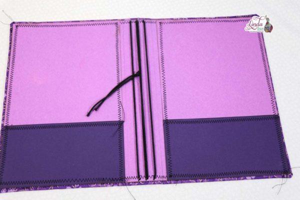Dark Purple Floral Midori Style Cover