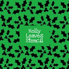 Holly Leaves Stencil