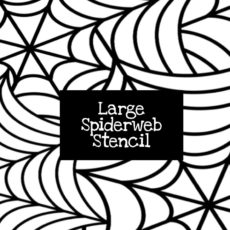 Large Spiderweb Stencil