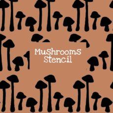 Mushrooms Stencil