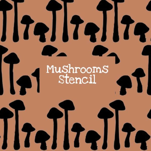 Mushrooms Stencil