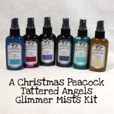 A Christmas Peacock Tattered Angels Glimmer Mists Kit