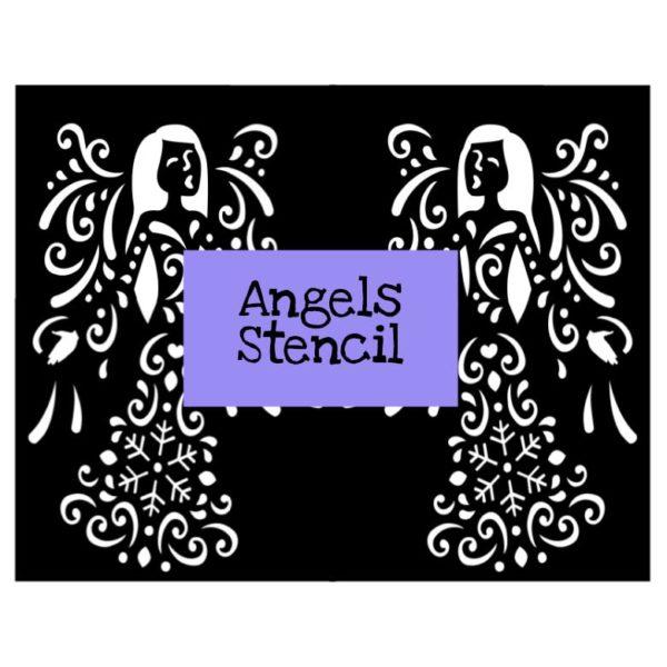Angels Stencil