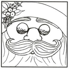 CHO104E Cool Santa Rubber Stamp