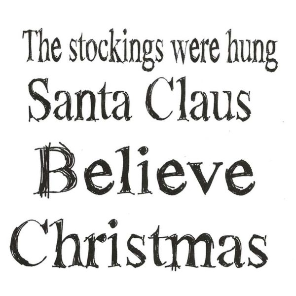 CHO114D Christmas Quartet Rubber Stamps