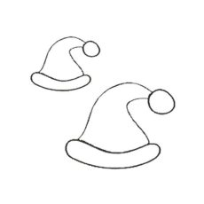 CHO122D Santa's Hat Duo Rubber Stamps