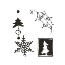 CHO129D Festive Cube Rubber Stamps