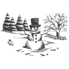 CHO144F Snow Day Rubber Stamp