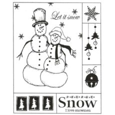 CHO151F I Love Snowmen Rubber Stamp