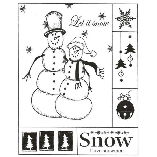 CHO151F I Love Snowmen Rubber Stamp