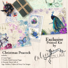 Exclusive A Christmas Peacock Printed Journal Kit