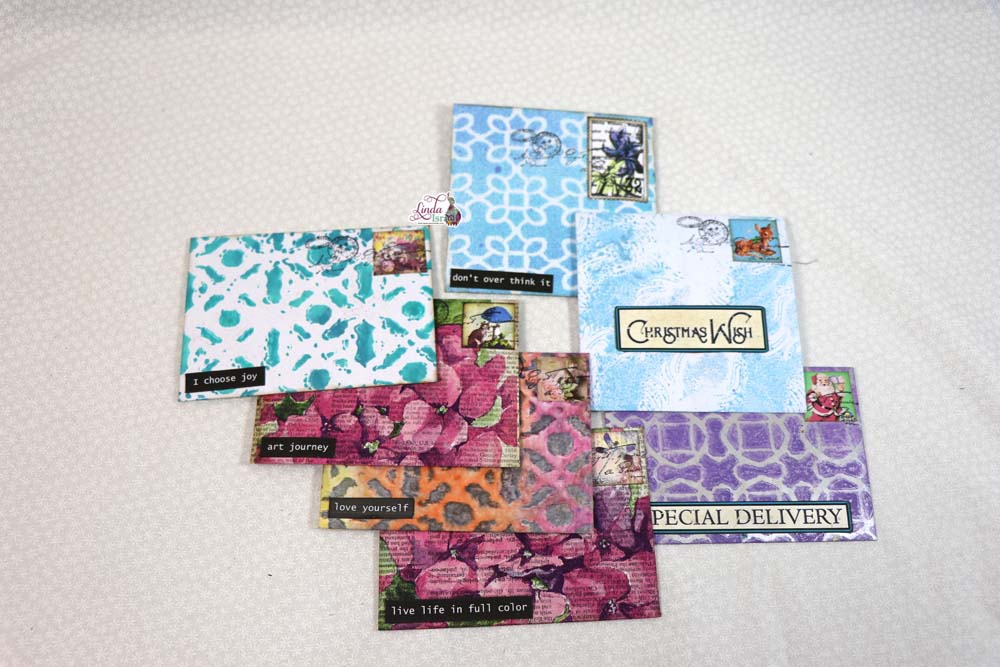 Day 1 Handmade Envelopes of 12 Days of Junk Journal Gift Ideas