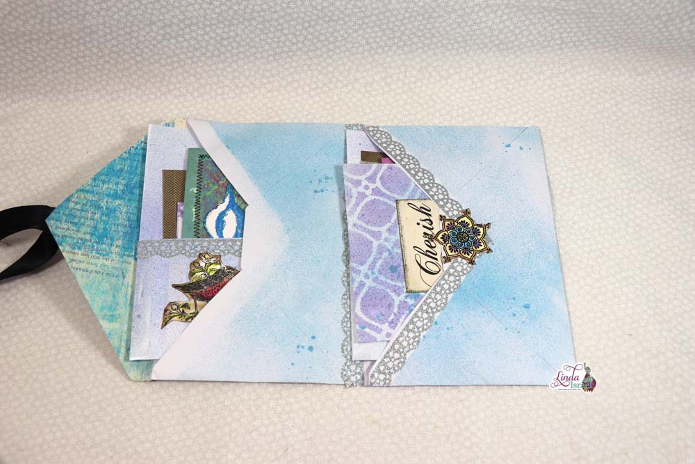Day 2 Stationery Gift Set Pocket Folder of the 12 days of Junk Journal Gift Ideas. This is a super fun tutorial today using envelopes to create a pocket folder or folio filled with goodies. Dig around and find two envelopes that are the same size and play along.