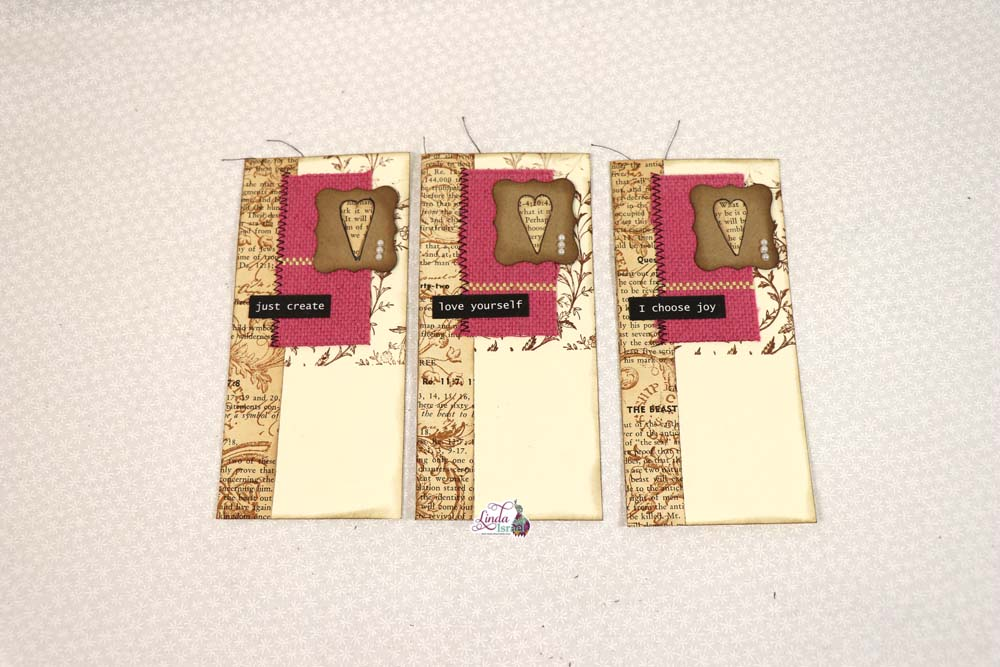 Day 5 Using Fabric Scraps for Journal Cards