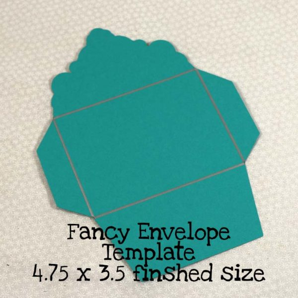 Fancy Envelope Template 4.75 x 3.5 Finished Size