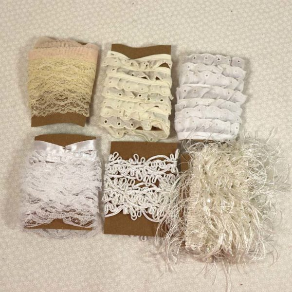 Ivory & White Lace Trims