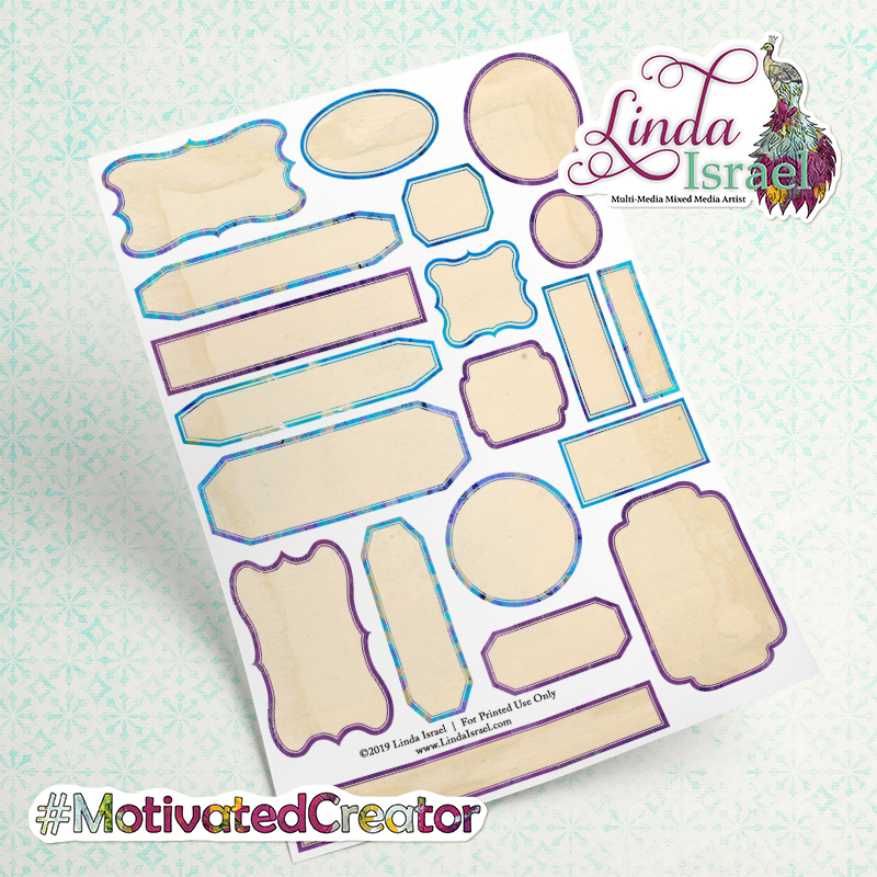 Mixed Colorful Labels Digital Download