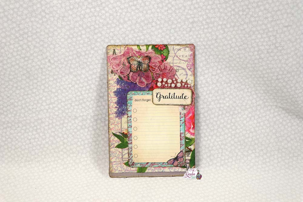 Day 10 Creating Napkin Embellished Cards