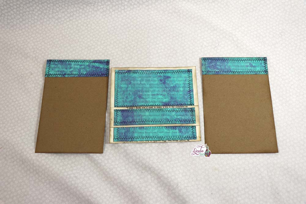 Gel Print into Pocket with Journal Card Tutorial