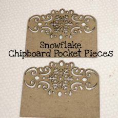 Snowflake Chipboard Pocket Pieces