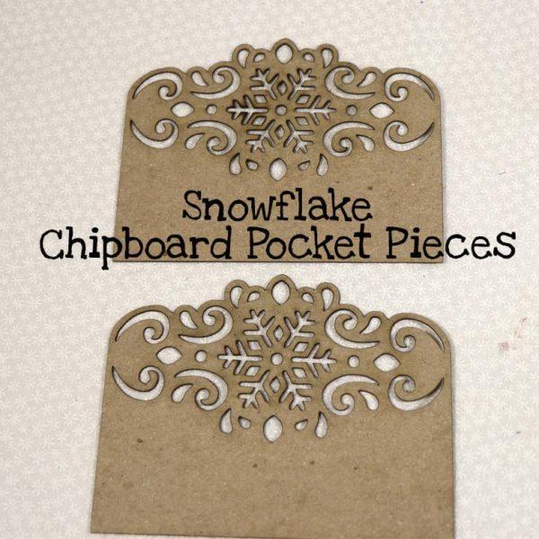 Snowflake Chipboard Pocket Pieces