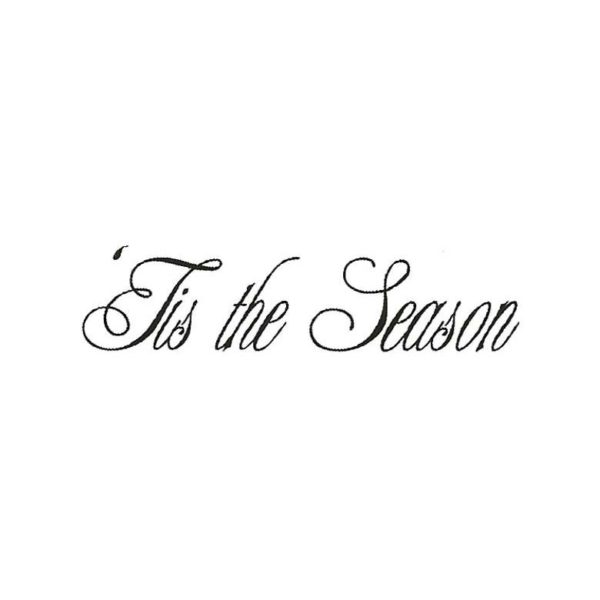 CHO139B Tis The Season Rubber Stamp