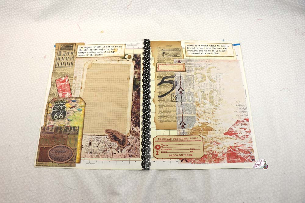 Masculine Junk Journal Tutorial Part One